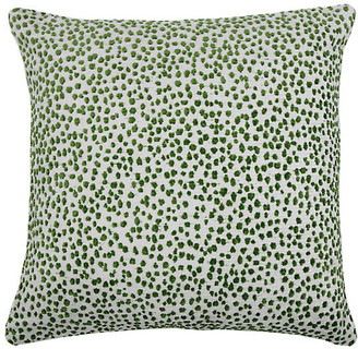 The Piper Collection Lola 22x22 Dots Pillow - Emerald/White