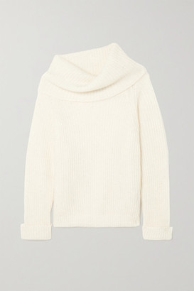 Tom Ford Ribbed Mohair-blend Turtleneck Sweater - Off-white