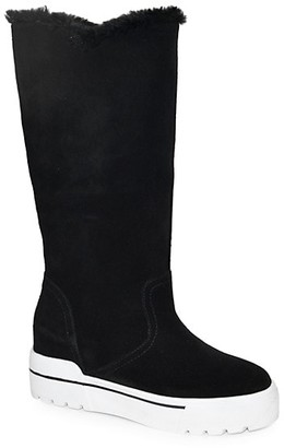J/Slides Norie Waterproof Suede Faux Fur Boots