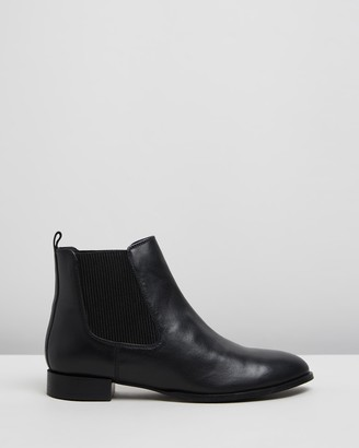 Atmos & Here Atmos&Here - Women's Black Ankle Boots - Riely Leather Ankle Boots - Size 36 at The Iconic