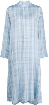 Jejia Check Pattern Back Buttoned Dress