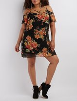 Charlotte Russe Plus Size Floral Print Shift Dress