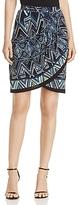 Nic+Zoe Beaming Print Faux-Wrap Skirt