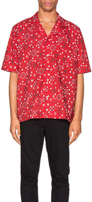 Rhude Bandana Hawaiian Shirt in Red | FWRD