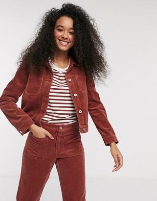 Pimkie cord jacket in rust