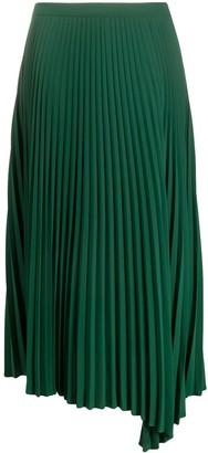 Closed Asymmetric Pleated Skirt