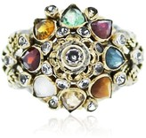 18K Gold Diamond and Multi Colored Gemstone Ring