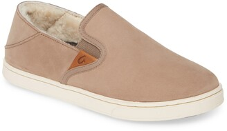 OluKai Pehuea Heu Genuine Shearling Slip-On Sneaker