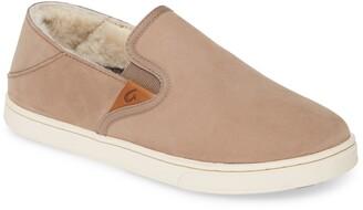 OluKai Pehuea Heu Genuine Shearling Slip-On Sneaker