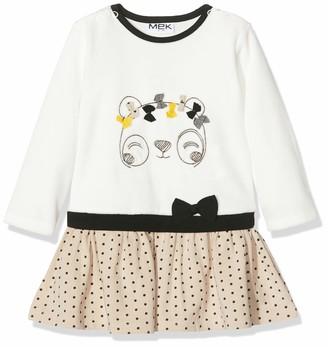 MEK Baby Girls Abito Ciniglia Con Inserti Dress