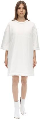 MM6 MAISON MARGIELA Logo Padded Cotton Jersey Mini Dress