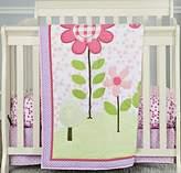 Dream On Me Spring Garden 3-Piece Reversible Portable Crib Bedding Set.