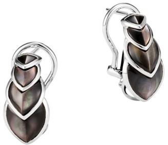 John Hardy Legends Naga Sterling Silver & Grey Mother-Of-Pearl Buddha Belly Earrings
