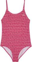 Calvin Klein Logo print swimsuit 4-16 years