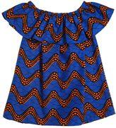 Stella Jean Waves Printed Waxed Cotton Dress