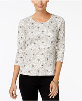 Charter Club Petite Snowflake-Print Top, Only at Macy's