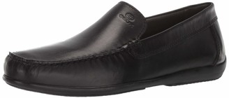 Geox Men's ASCANIO 3 Leather Driving MOC Loafer Flat