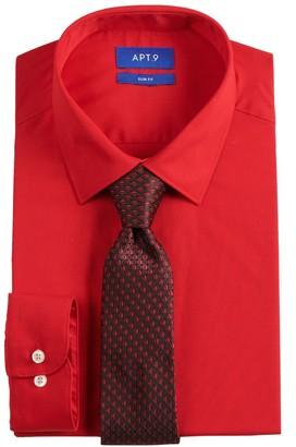 Apt. 9 Men's Slim-Fit Dress Shirt & Tie Set