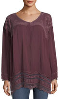Johnny Was Rose Embroidered Georgette Tunic, Plus Size