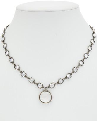 Rachel Reinhardt Silver Clear Quartz & Cz Necklace