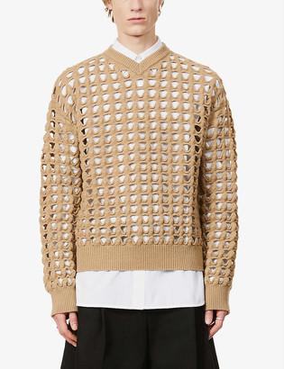 Bottega Veneta Cut-out wool-blend jumper