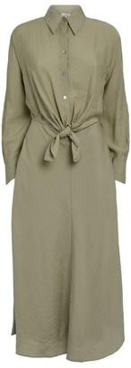 Vince Tie-Front Midi Shirt Dress