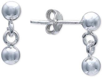 Giani Bernini Polished Ball Drop Earrings in Sterling Silver