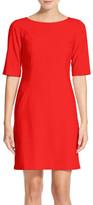 Tahari Seamed A-Line Dress (Petite)