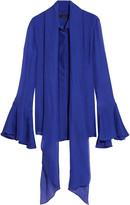 Ellery Pussy-bow silk-chiffon blouse
