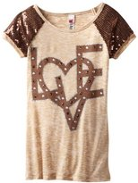 Beautees Girls 7-16 Love Top With Shoulder Detail