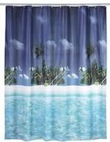 Wenko 19101100 Shower Curtain Palm Beach Waterproof