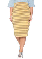 ELOQUII Plus Size Striped Pencil Skirt
