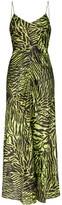Ganni tiger print maxi dress