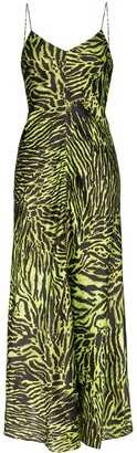 Ganni Tiger Print Maxi Dress