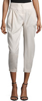 Halston Pleated-Front Cropped Pants, Atmosphere