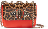 Christian Louboutin Sweet Charity Large Leather Shoulder Bag - Leopard print