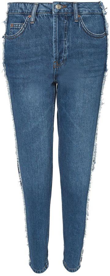 Topshop MOTO Contrast Panel Hayden Jeans
