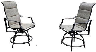 Overstock 2 pcs Outdoor Patio Furniture Bar High Swivel Chairs