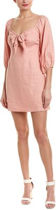 SUBOO Pink Sands Linen Shift Dress