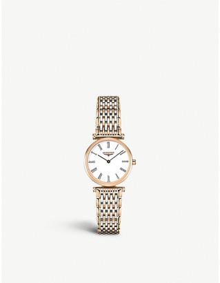 Longines L4.209.1.91.7 La Grand Classique rose gold-plated watch