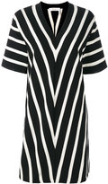 Chloé short sleeve chevron dress - women - Cotton - XS