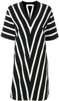Chloé short sleeve chevron dress - women - Cotton - XS
