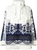 Sacai tribal lace embroidered jacket - women - Cotton/Polyester - 2