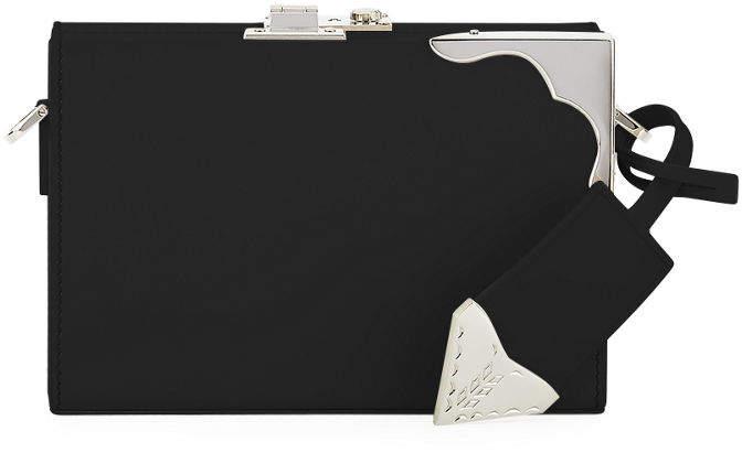 Calvin Klein Box Mini Luxe Leather Clutch Bag
