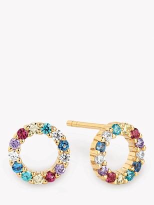 Sif Jakobs Jewellery Cubic Zirconia Open Centre Round Stud Earrings
