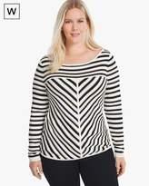 White House Black Market Plus Seaside Stripe Pullover