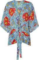 Biba Printed tie kimono jacket