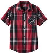 Tony Hawk Boys 8-20 Tony Hawk® Plaid Button-Down Shirt