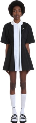 Palm Angels Dress In Black Cotton