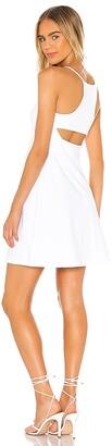 Susana Monaco Empire Waist Racer Cutout Dress